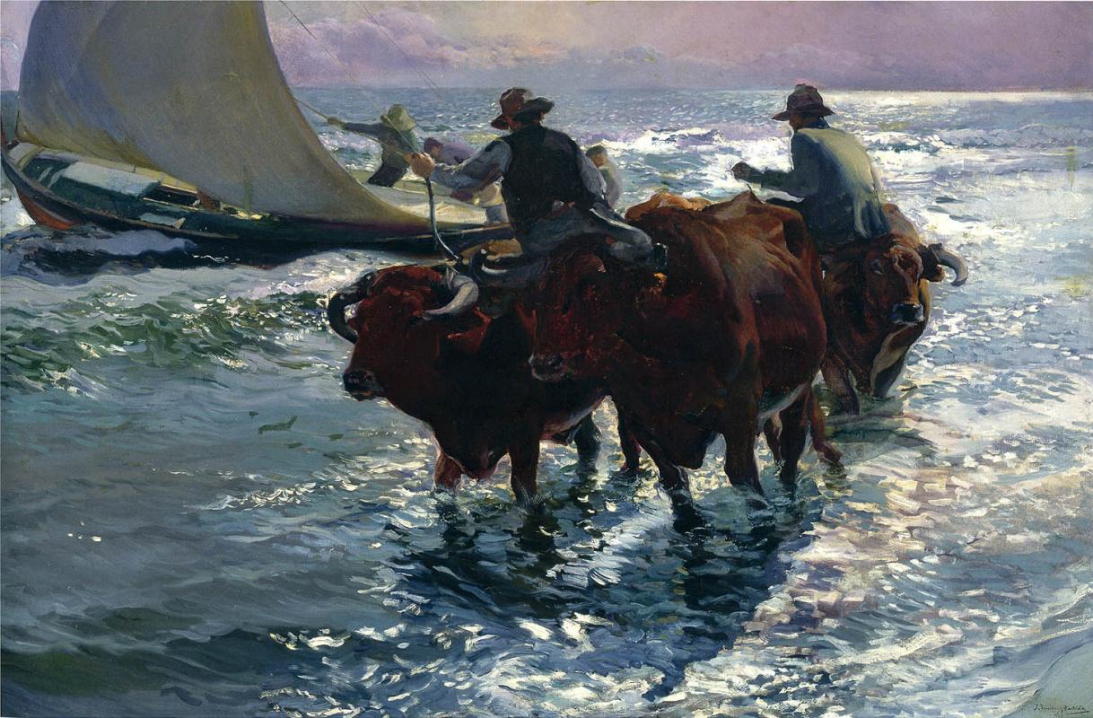 Хоакин Соролья (Соройя). Быки в море
