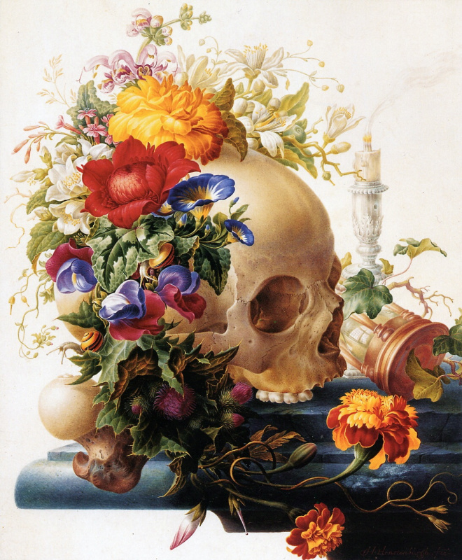 Герман Хенстенбургх. Цветы и череп