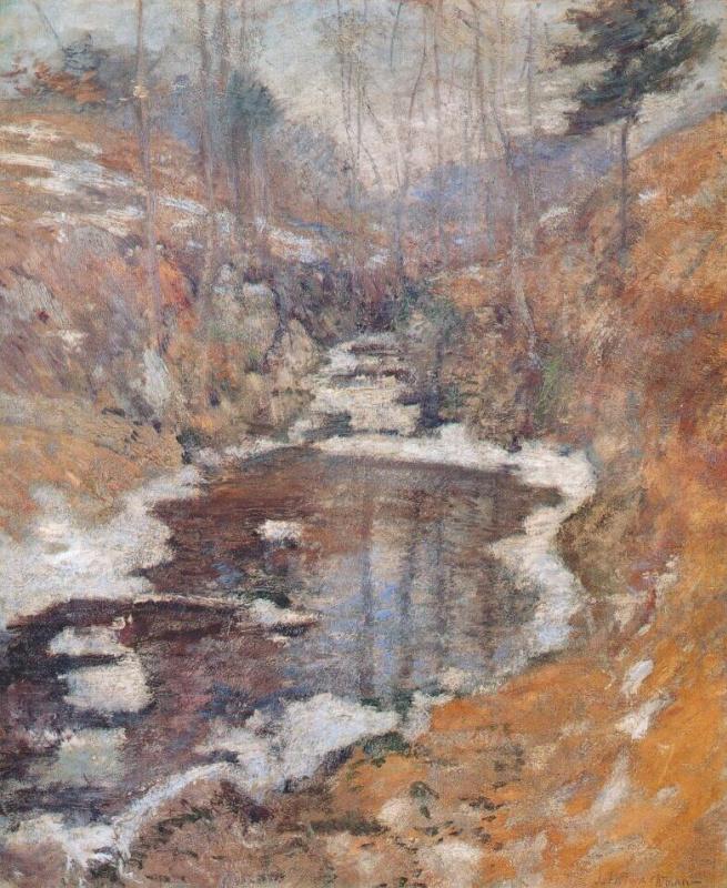 John Henry Twachtman. Pond Hemlock