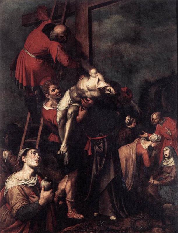Франс Франкен Младший. Снятие со креста
