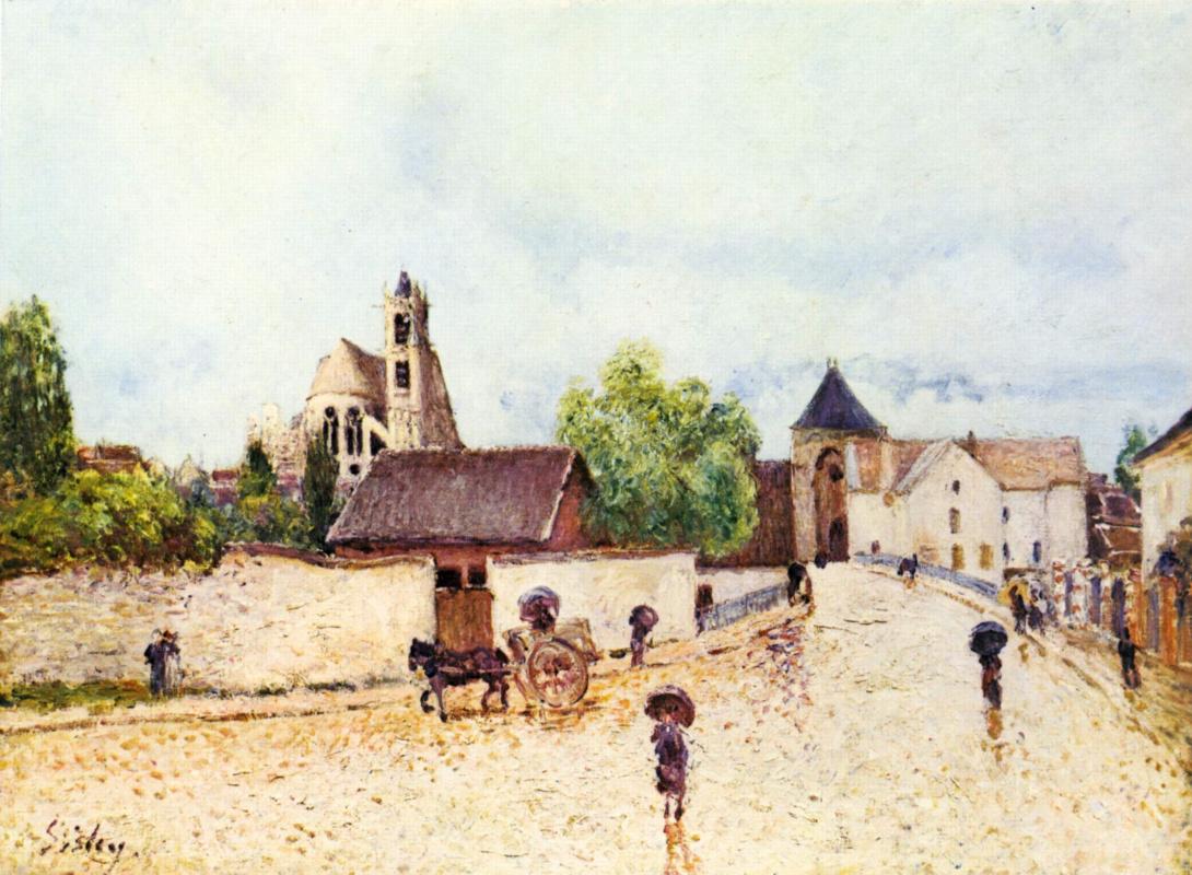 Альфред Сислей. Дождь в Морэ-сюр-Луан