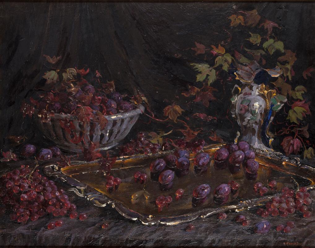 Olga Sergeevna Malyutina. Still life with fruit