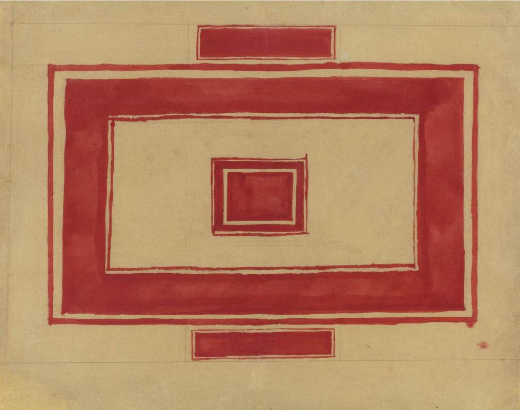 Казимир Северинович Малевич Россия 1879 - 1935. Дизайн-проект для красного Ленинградского театра . 1931