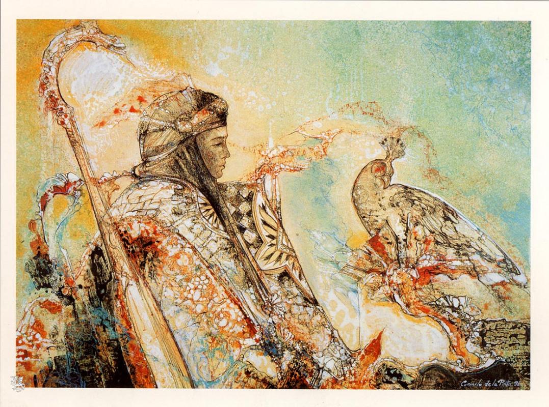 Camelo De La Pinta. The Prince and the hawk