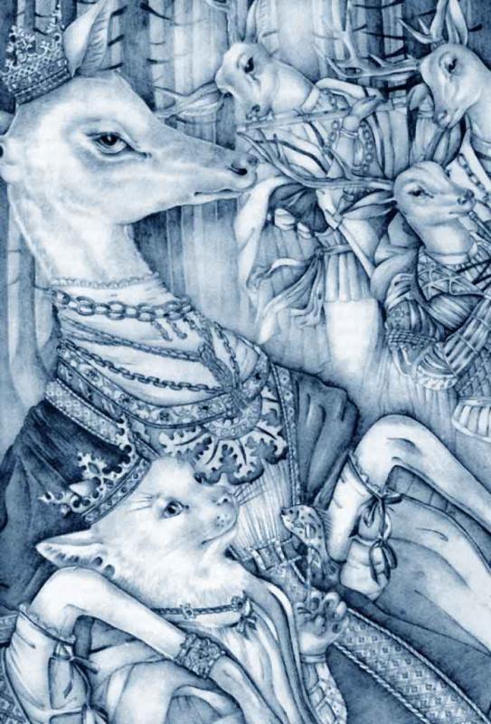Брайт, прелестный олень и кот 03