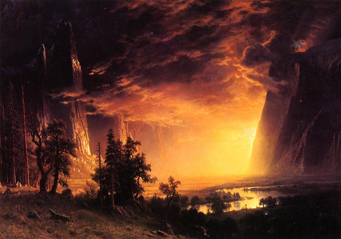 Альберт Бирштадт. Закат в долине Йосемити