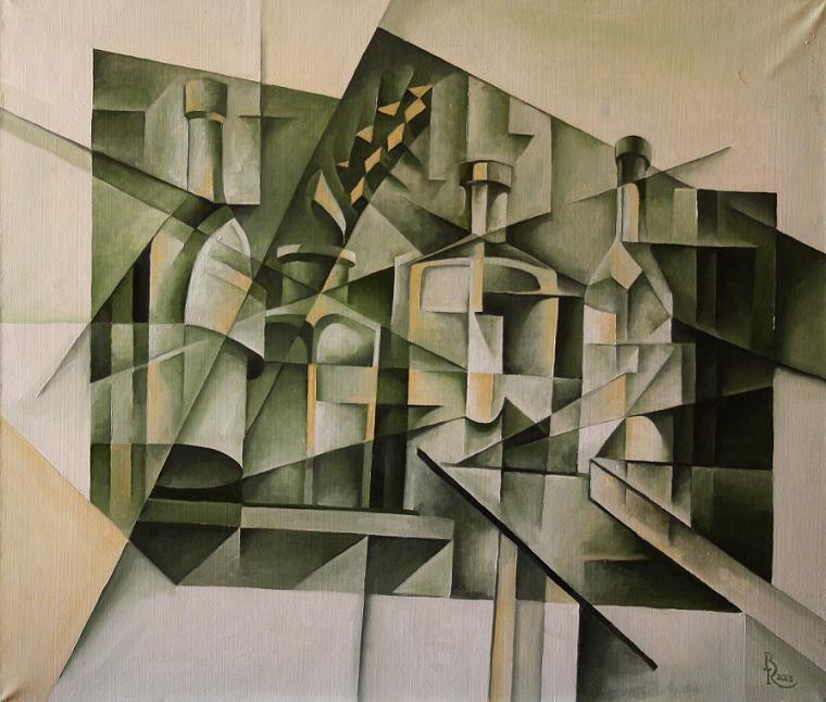Vasily Krotkov. Flask. Kubofuturizm