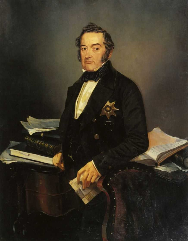 Михаил Александрович Зичи. Портрет И.Н.Толстого. 1854