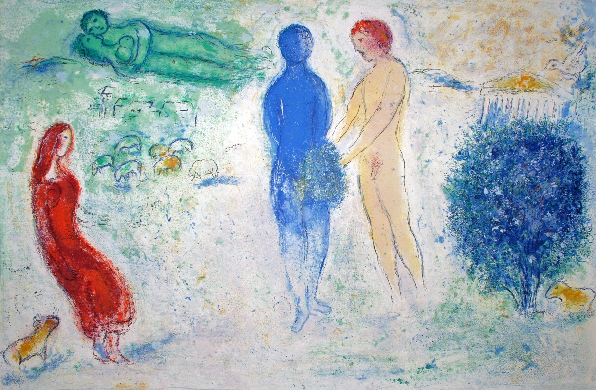 "Marc Chagall. Court Chloe. From the series ""Daphnis and Chloe"""
