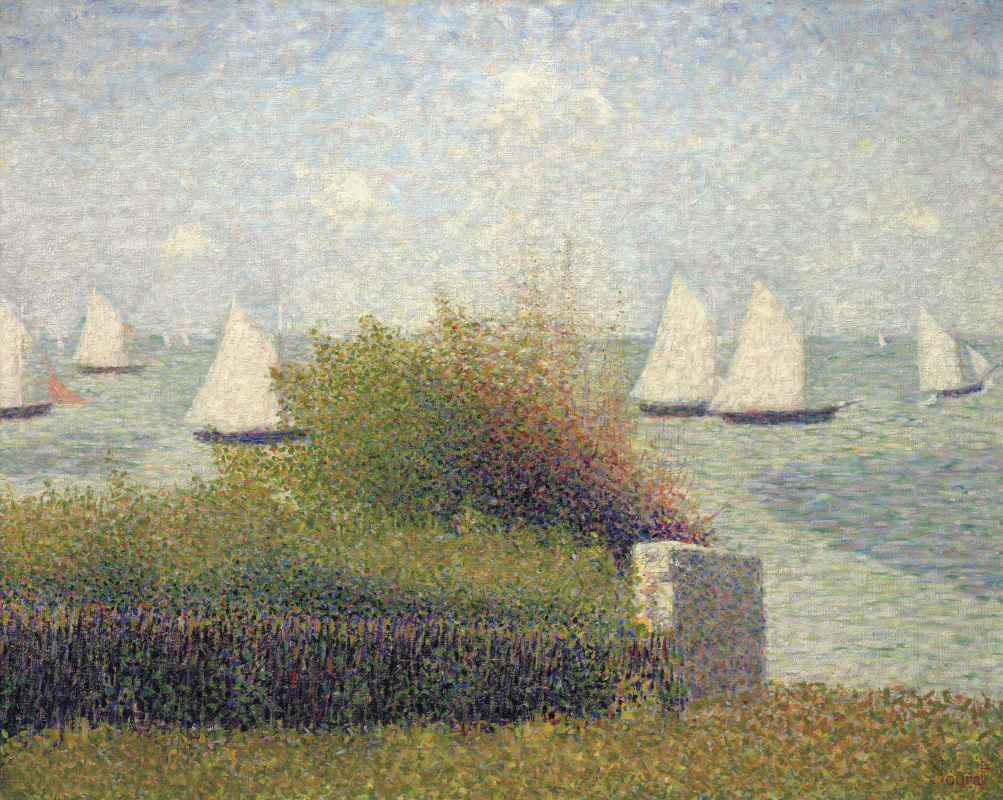 Georges Seurat. RAID in Grandcamp