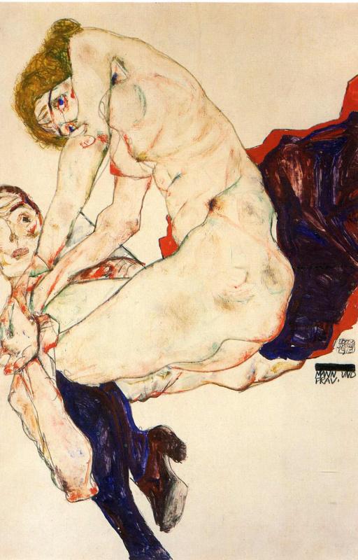 Эгон Шиле. Мужчина и женщина