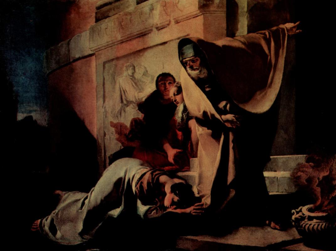Giovanni Battista Tiepolo. Exile agari