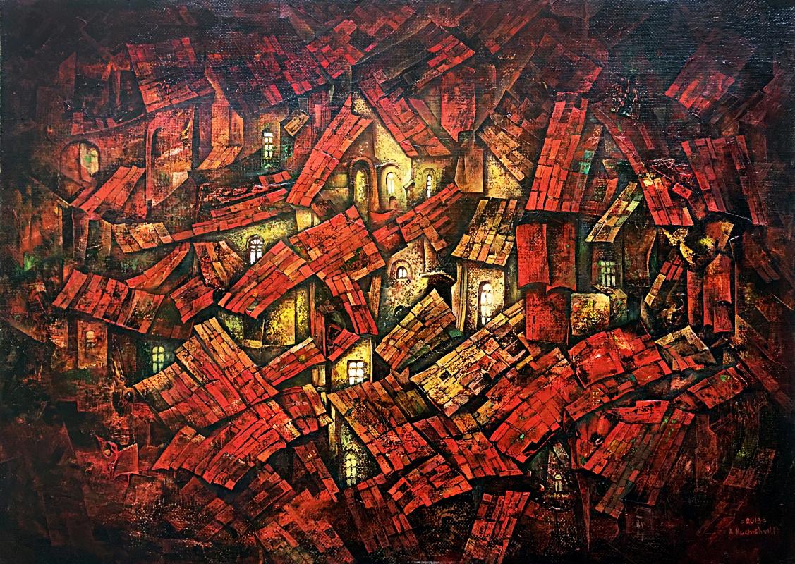 Amur Kochishvili. Red roofs