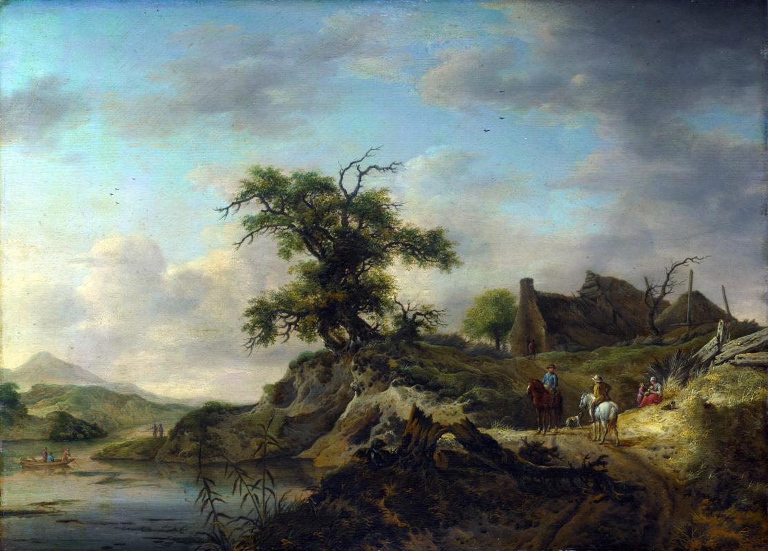 Ян Вуверманс. Ферма на берегу реки