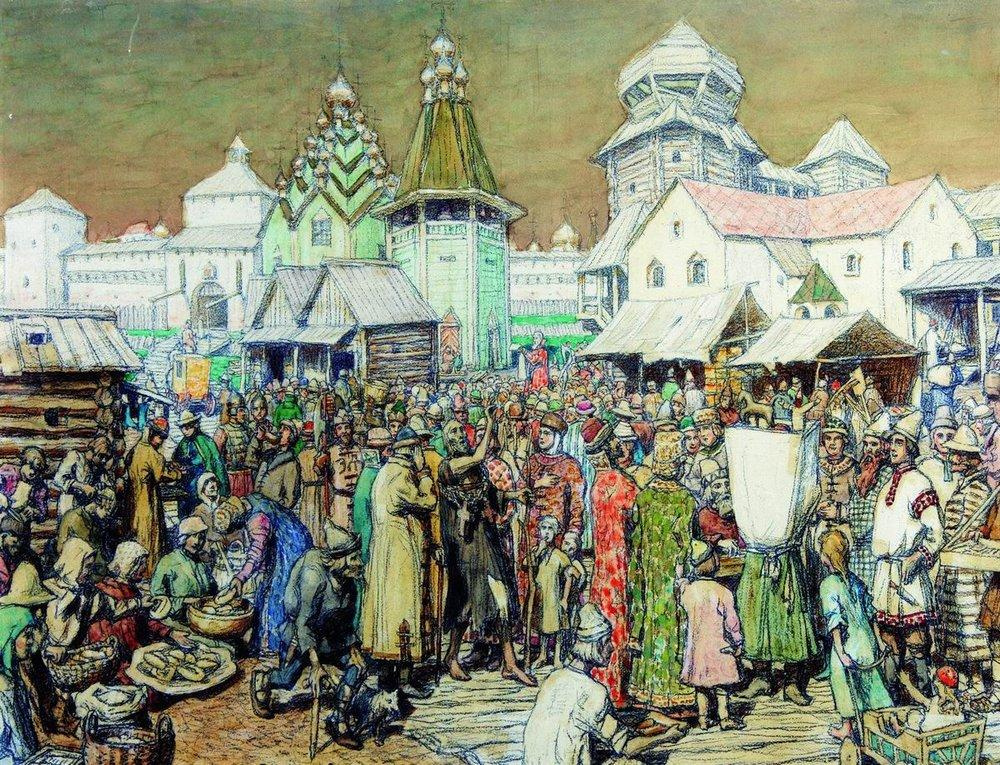 Аполлинарий Михайлович Васнецов. Городская площадь