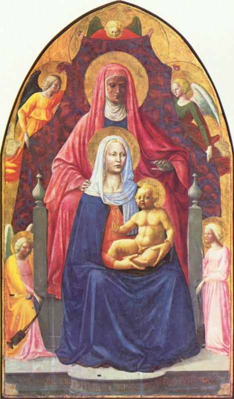 Томмазо Мазаччо. Мария с младенцем и Анной