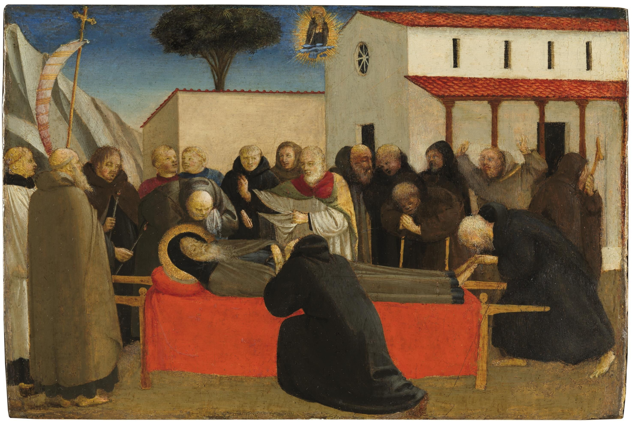 Фра Беато Анджелико. Похороны святого Антония