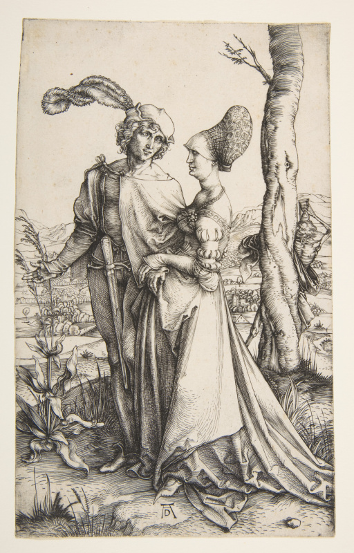 Albrecht Dürer. The young couple and Death