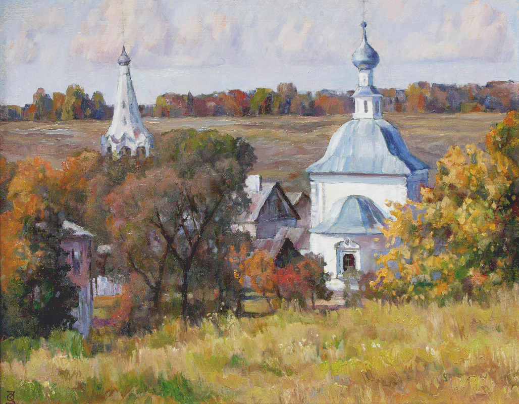 Oleg Borisovich Zakharov. Updated the temple. Suzdal.