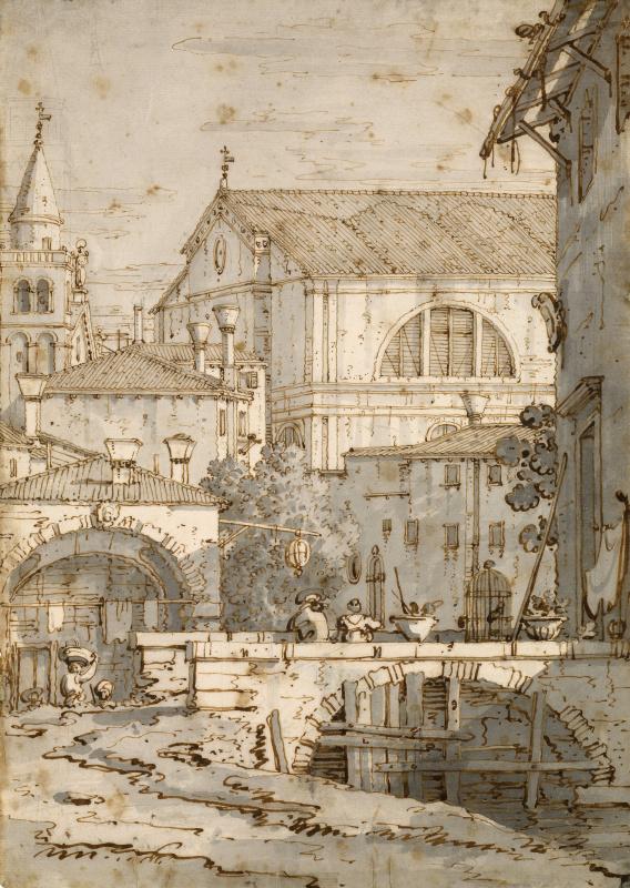 Giovanni Antonio Canal (Canaletto). Architectural Capriccio