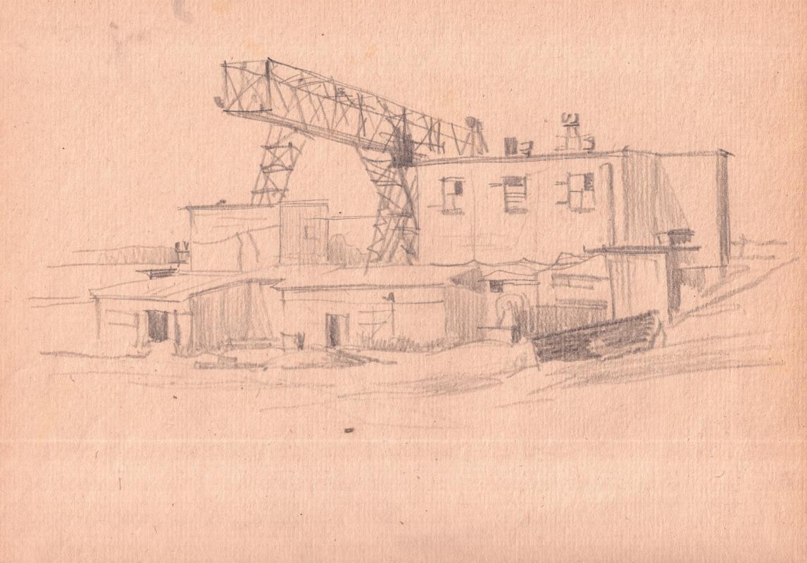 Arkady Pavlovich Laptev. Sketch of depot