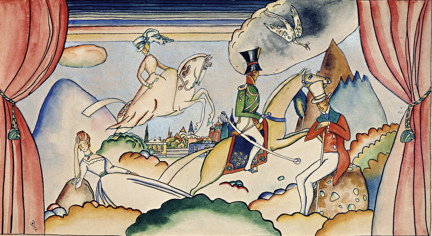 Wassily Kandinsky. Scene with the officer