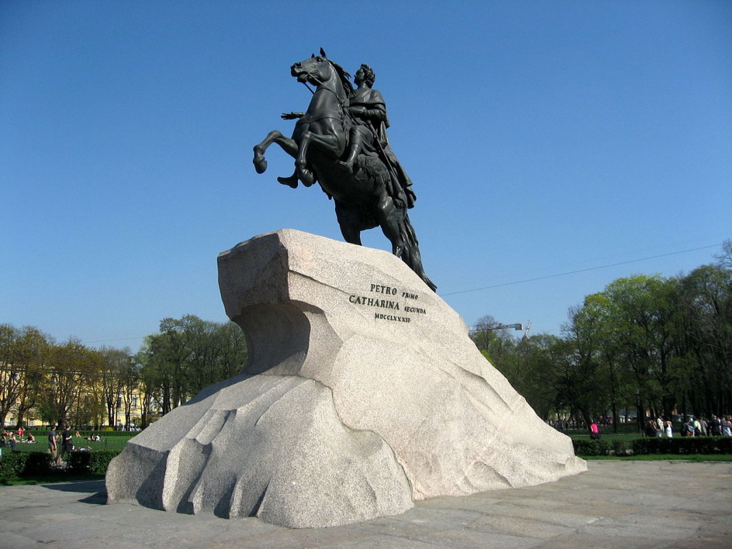 Etienne Maurice Falcone. Copper Horseman (monument to Peter I on Senate Square in St. Petersburg