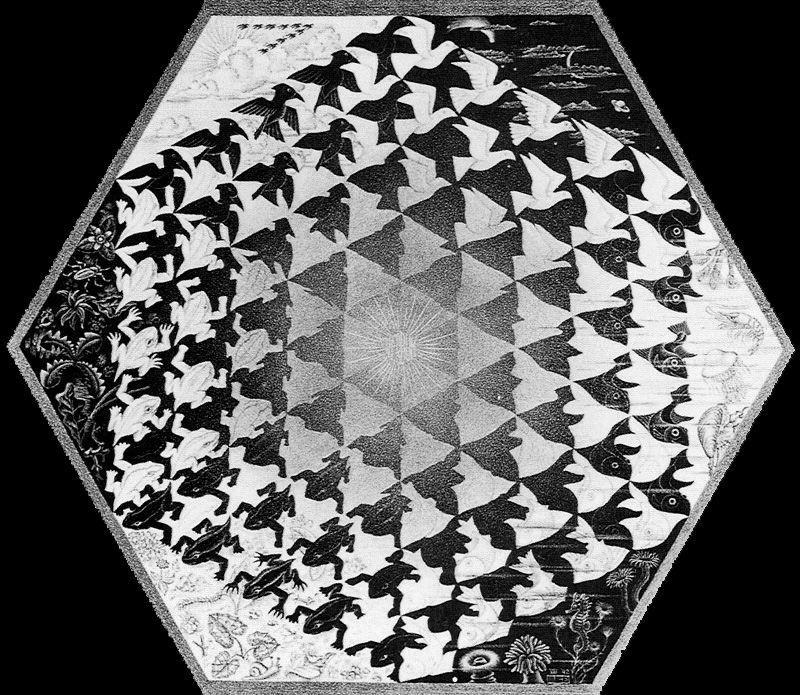 Мауриц Корнелис Эшер. От земноводных до птиц