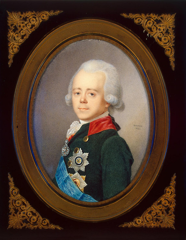 Jean Benner. Portrait of Emperor Paul I