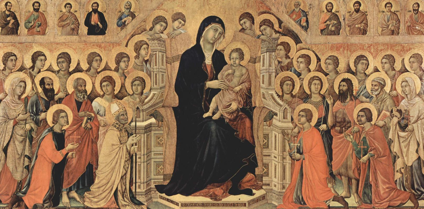 Duccio di Buoninsegna. Maesta, altar of Siena Cathedral