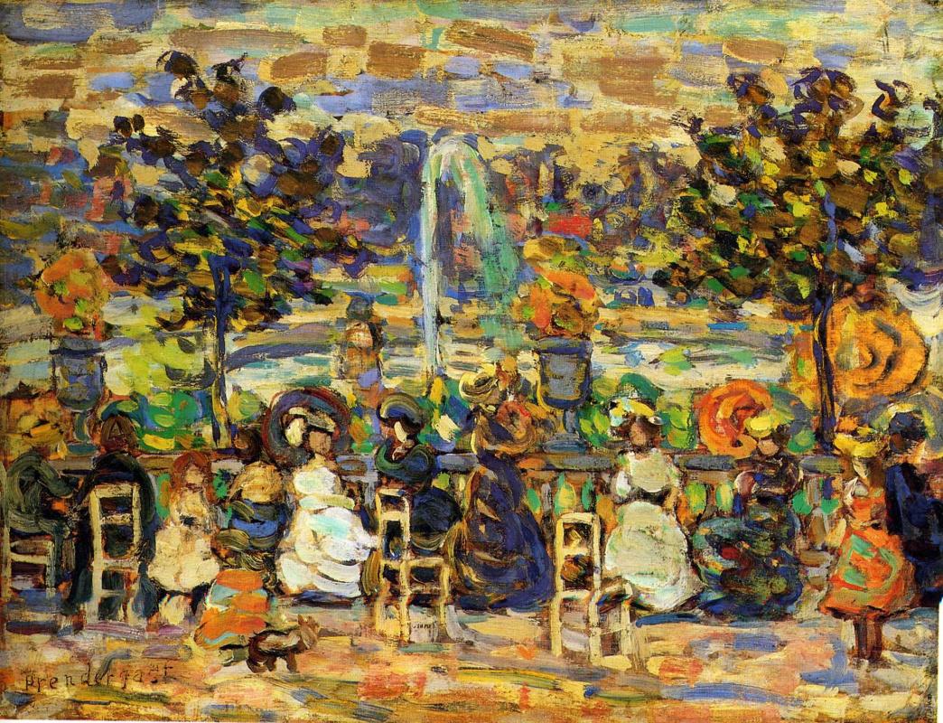 Maurice Braziel Prendergast. In the Luxembourg gardens