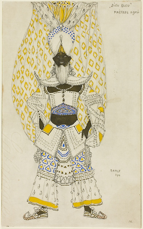 "Lev Samoilovich Bakst (Leon Bakst). Costume design for the ballet ""Blue God"""