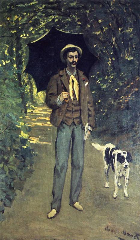 Клод Моне. Портрет Виктора Жакмона, держащего зонт