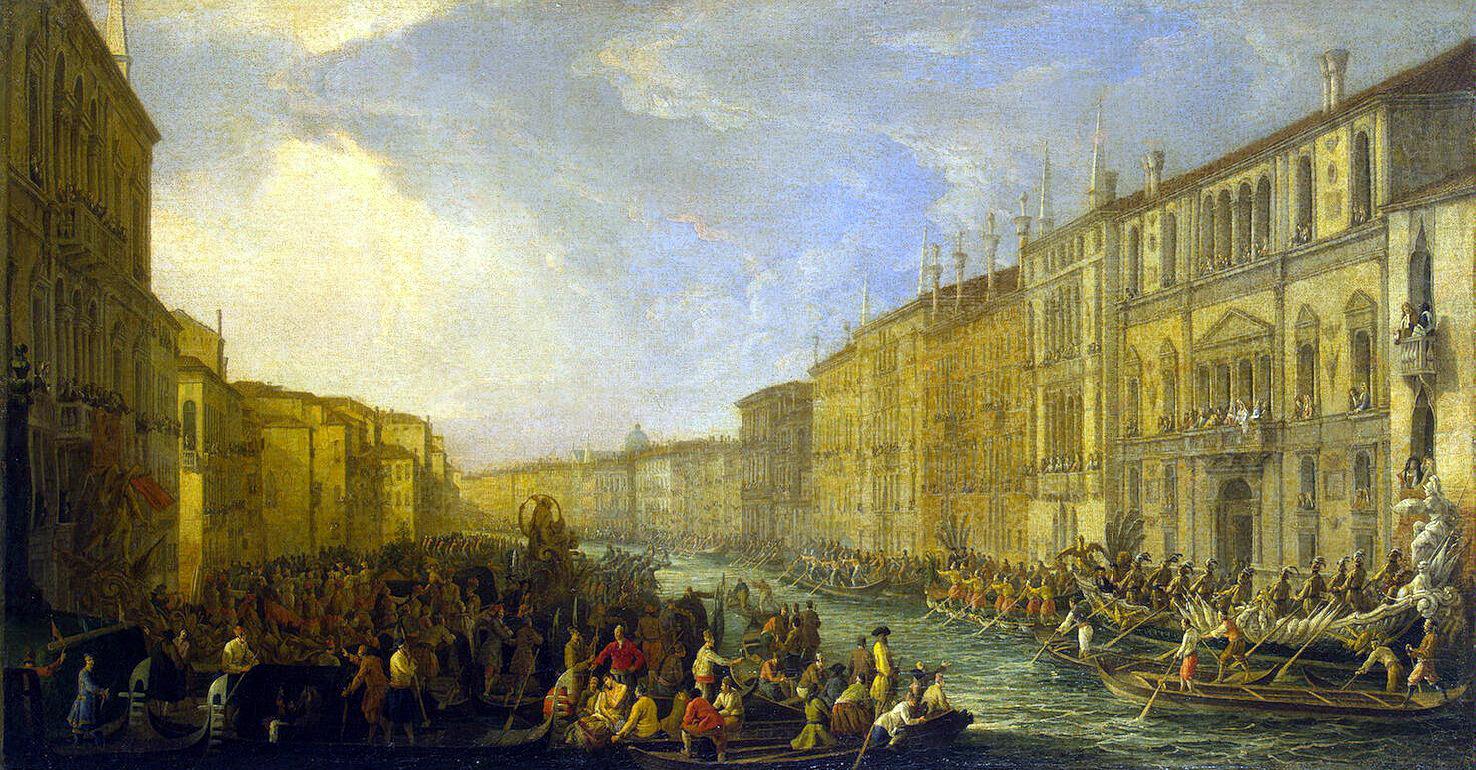 Лука Карлеварис. Регата на Большом канале в Венеции