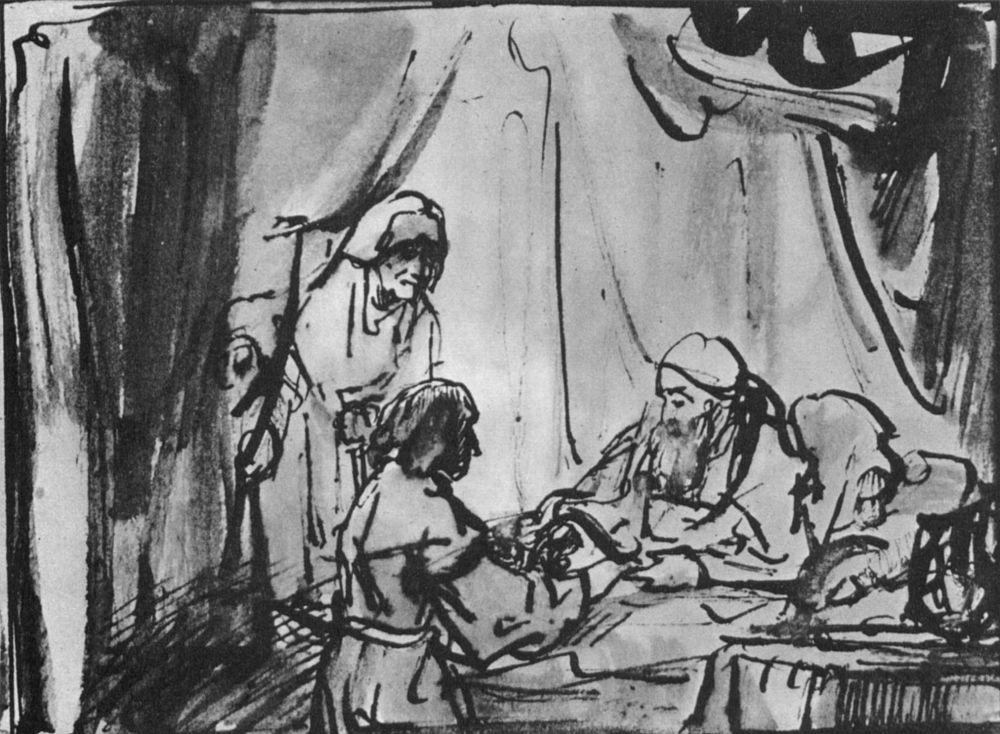 Рембрандт Харменс ван Рейн. Исаак благославляет Иакова