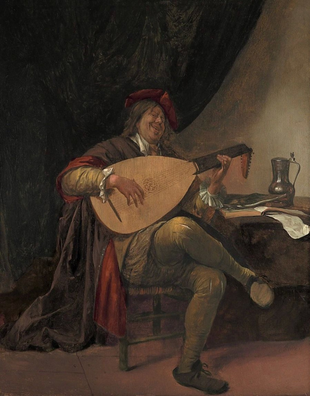Jan Steen. Self portrait with lute