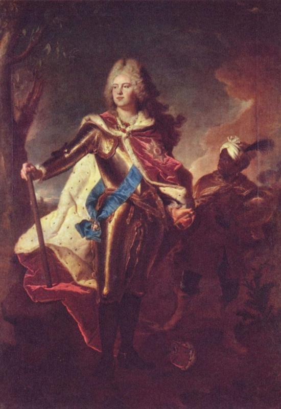 Гиацинт Риго. Портрет Фридриха Августа II, курфюрста Саксонского