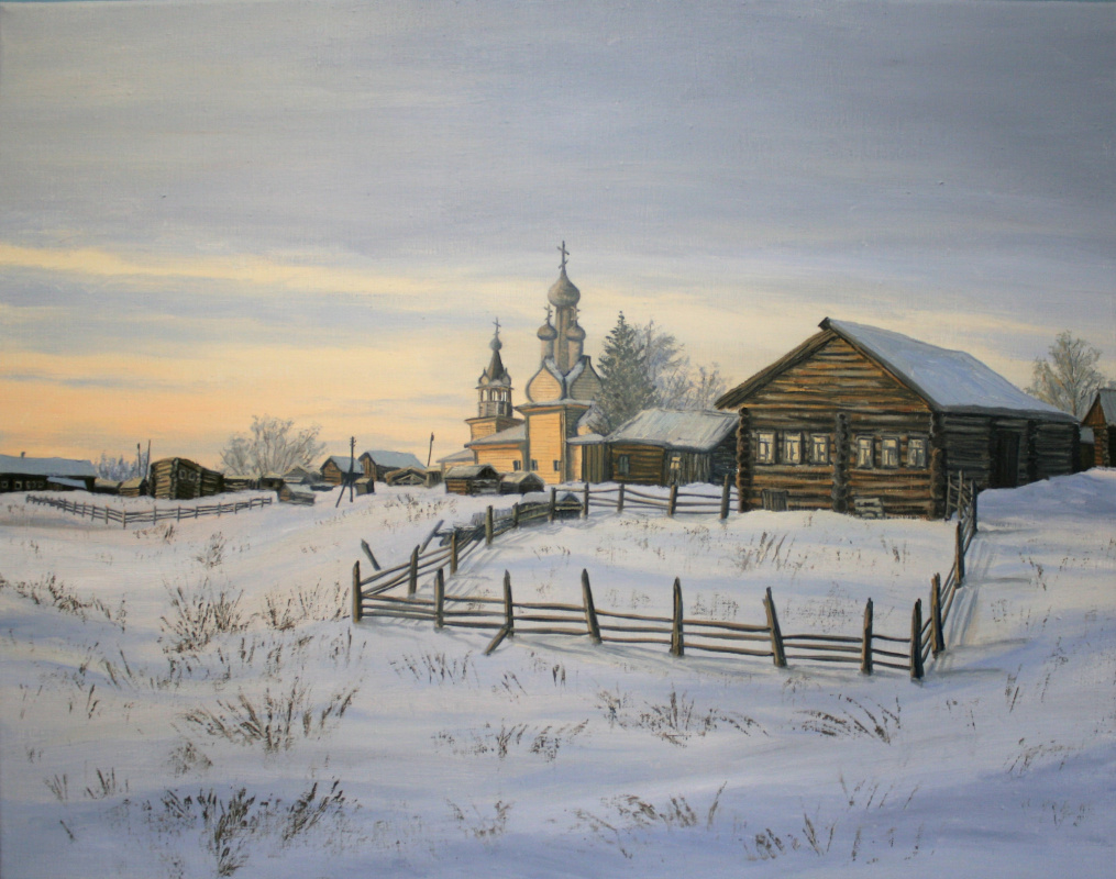 Константин Викторович Ракитин. Закат в деревне