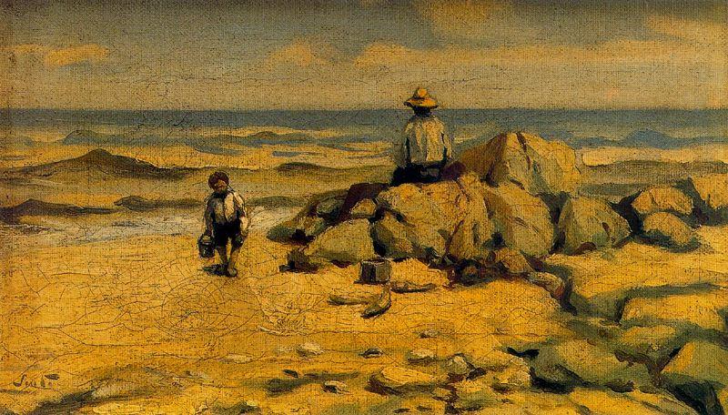 Arturo Souto. Sitting on the rocks