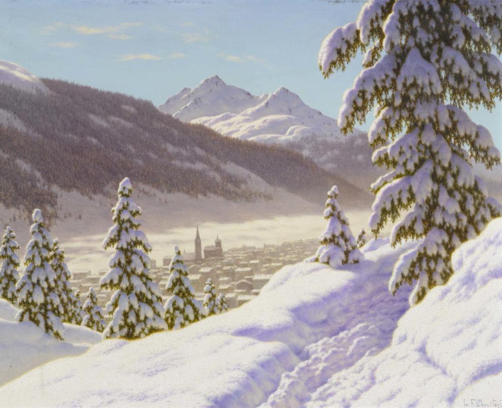 Ivan Choultsé. Winter landscape in Davos