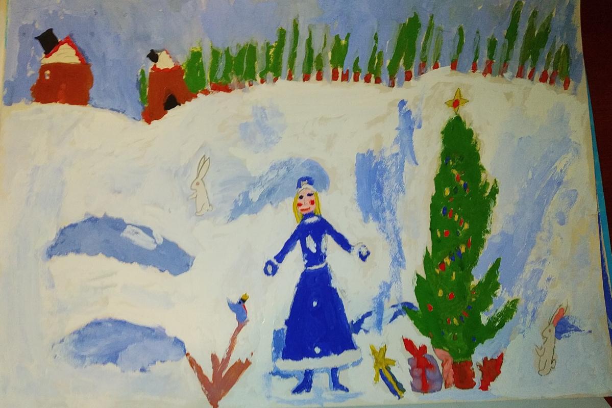Zina Vladimirovna Parisva. Snow Maiden. New Year