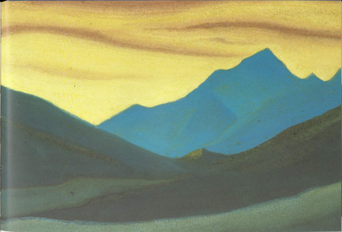 Nicholas Roerich. The Himalayas (Sunset colors)