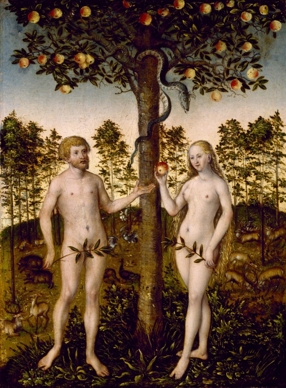 Лукас Кранах Младший 1515-1586. Грехопадение людей. 1549