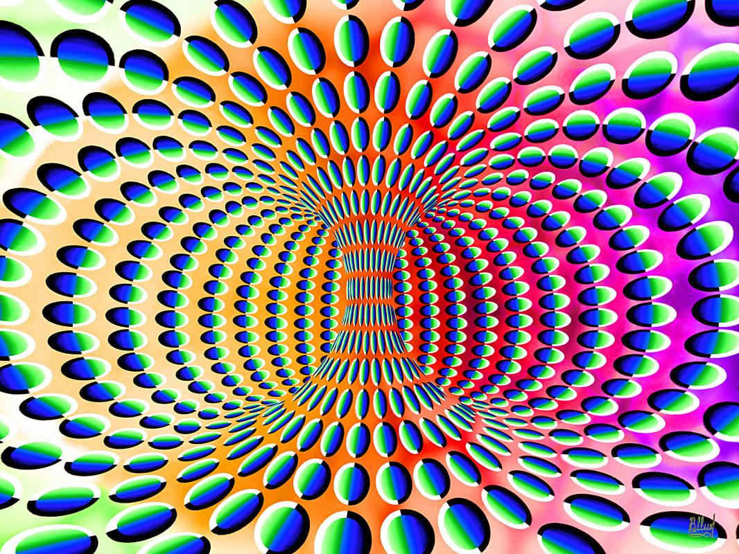 Vasiliy Mishchenko. Rotation carousel illusion