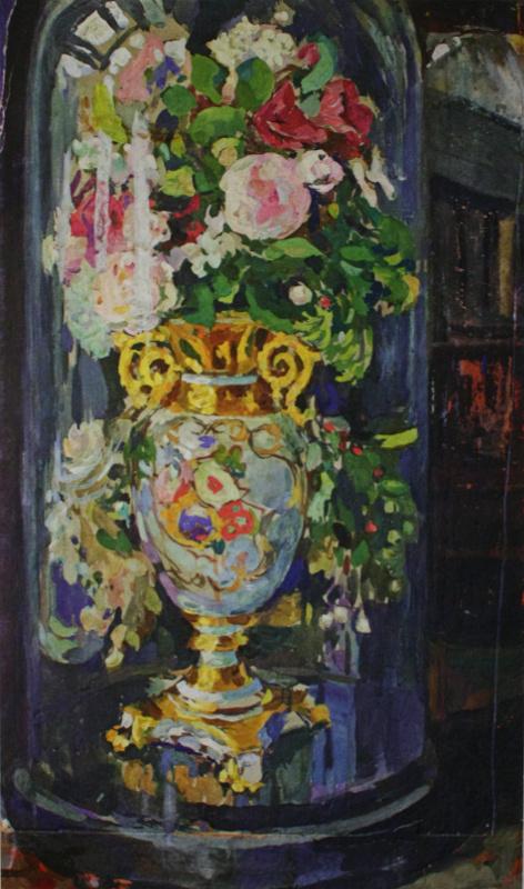 Николай Иванович Шестопалов. «Ваза под стеклянным колпаком» 1910-е