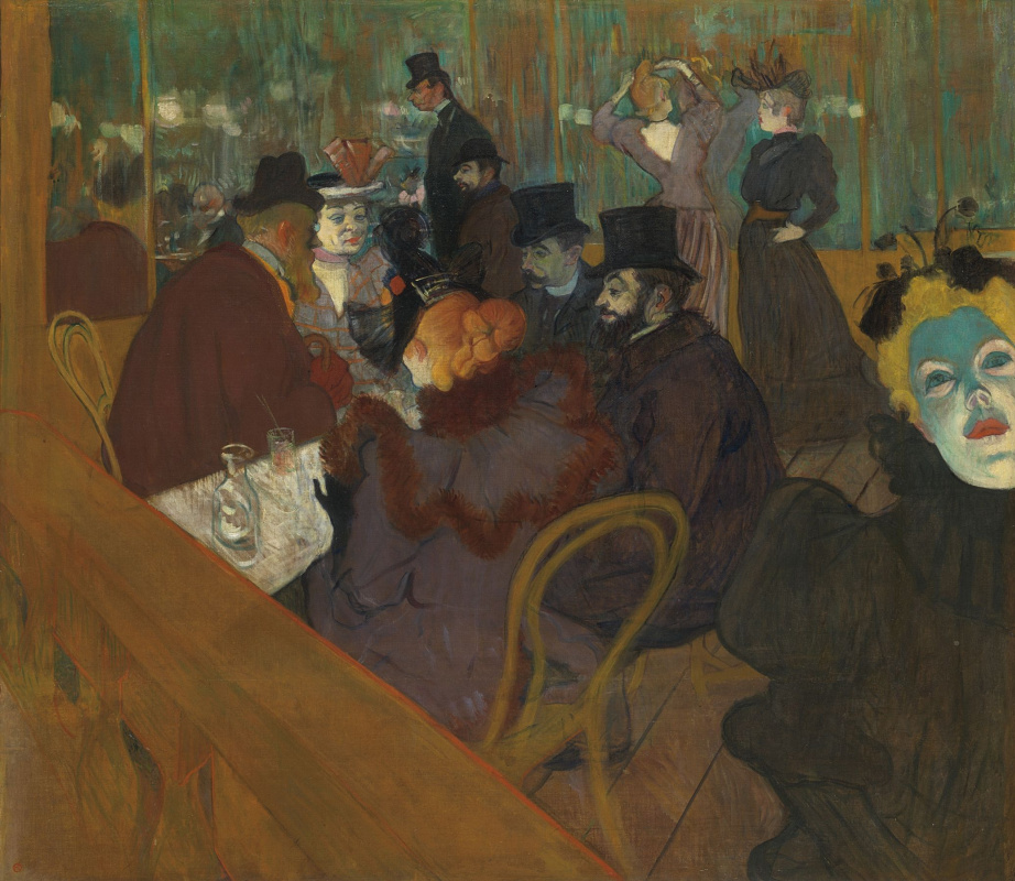 Henri de Toulouse-Lautrec. At the Moulin Rouge