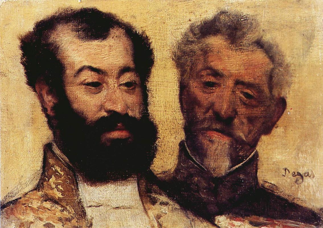Edgar Degas. General Mellinet and chief Rabbi of Astruc