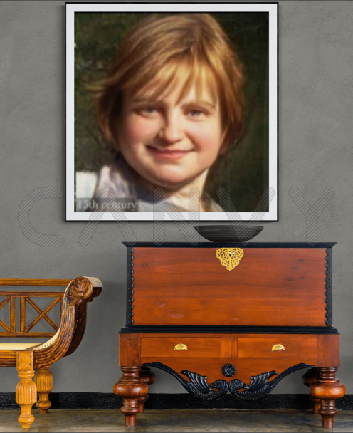 Natalya Garber. My 15th century portrait in an antique interior. VR art for the innovative tradition of digital luxury