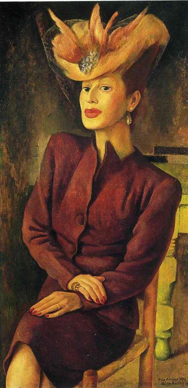 Диего Мария Ривера. Дама в шляпке