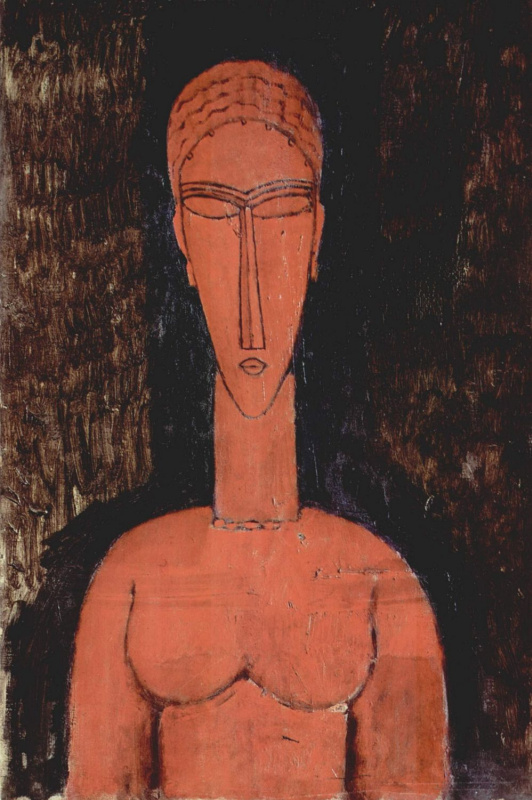 Amedeo Modigliani. Bust red